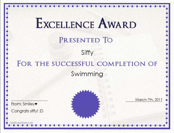 Certificate Maker | Smileyface46♥